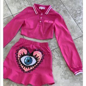 Heart Eye Skirt Set .